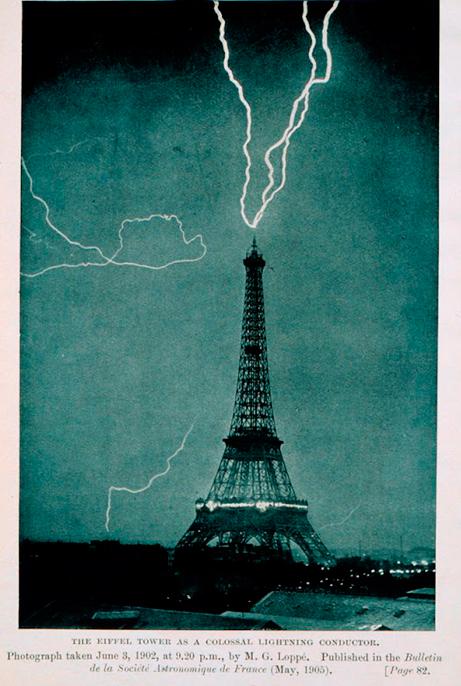 Los rayos y la Torre Eiffel