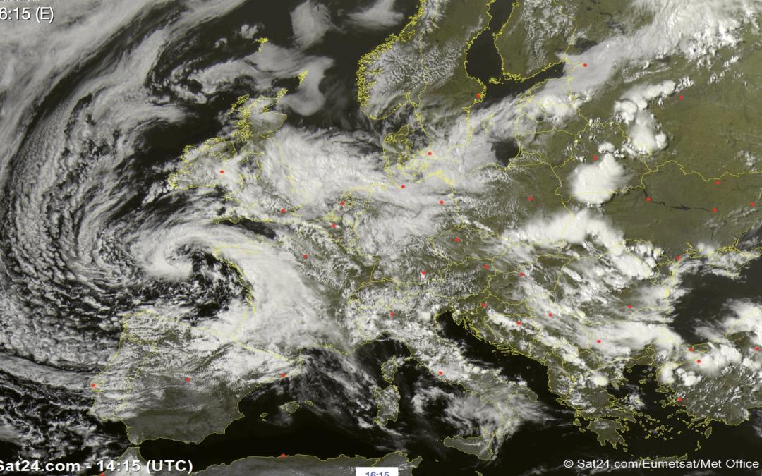 Raro caso de ciclogénesis rápida en el Mar Cantábrico para un mes de junio