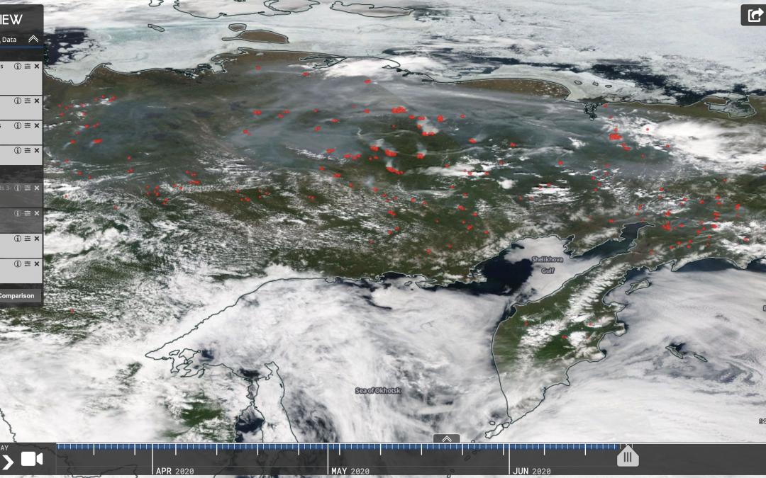 Ola de calor récord en Siberia, con 38ºC, e incendios por doquier.