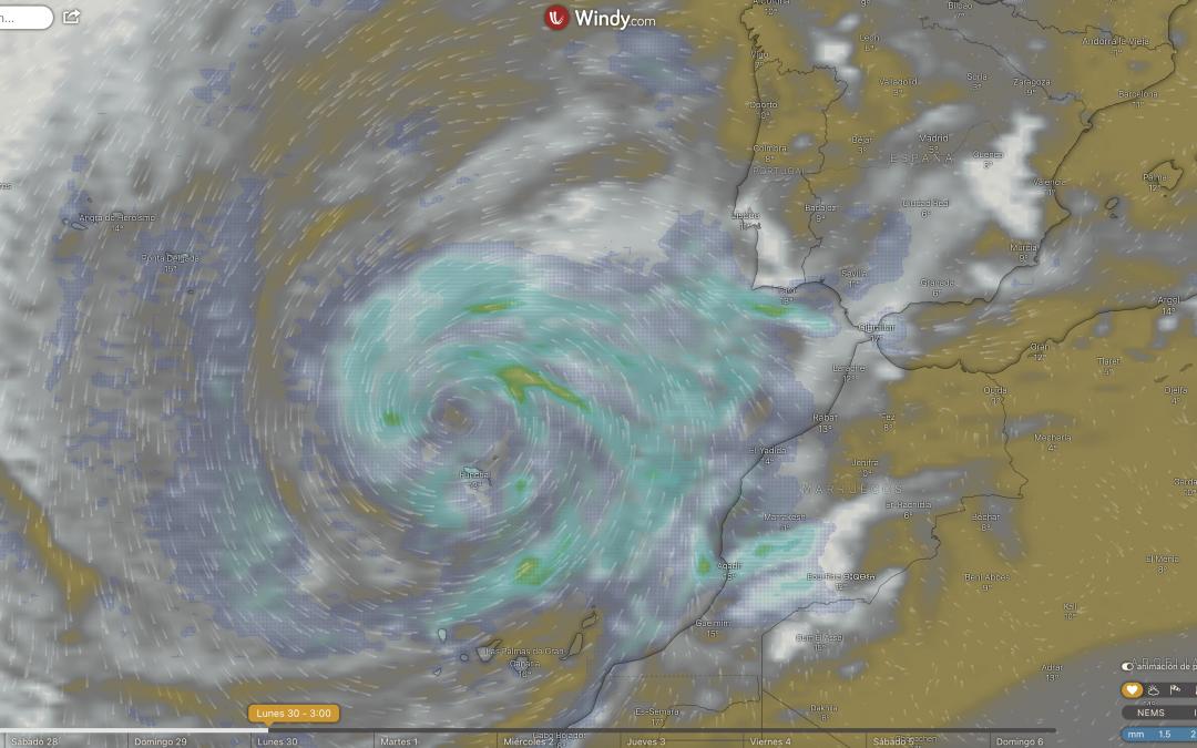Posible formación de un ciclón subtropical cerca de Madeira