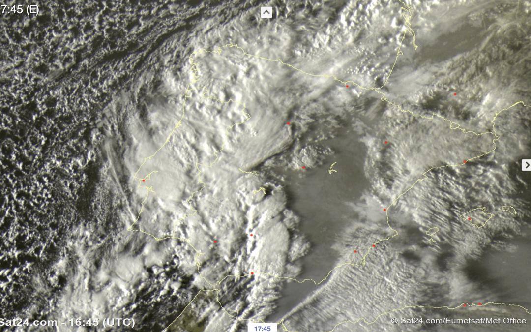 Irrupción de polvo sahariano y tormentas ¡a 5 de febrero!