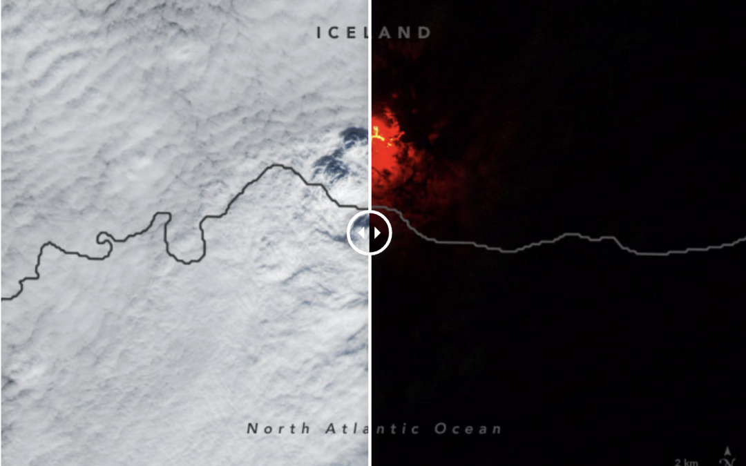 Caso curioso de ondas gravitatorias en Islandia