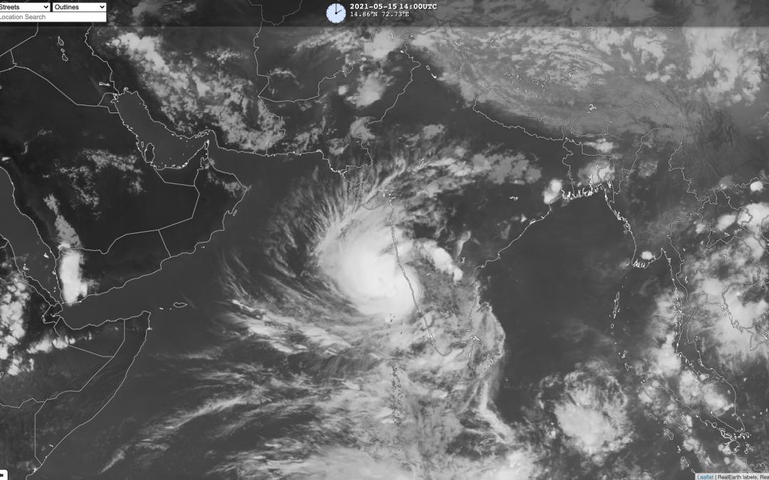 Ciclón tropical Tauktae en el Mar Arábigo