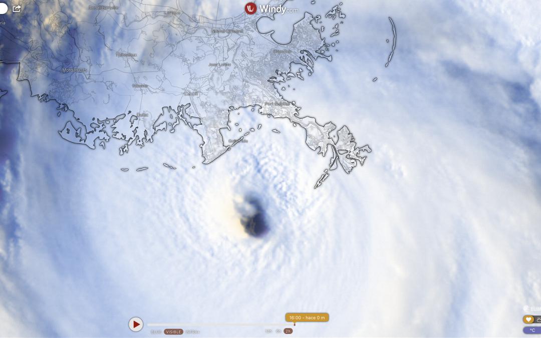 Catastrófico huracán Ida, a punto de tocar tierra en Luisiana