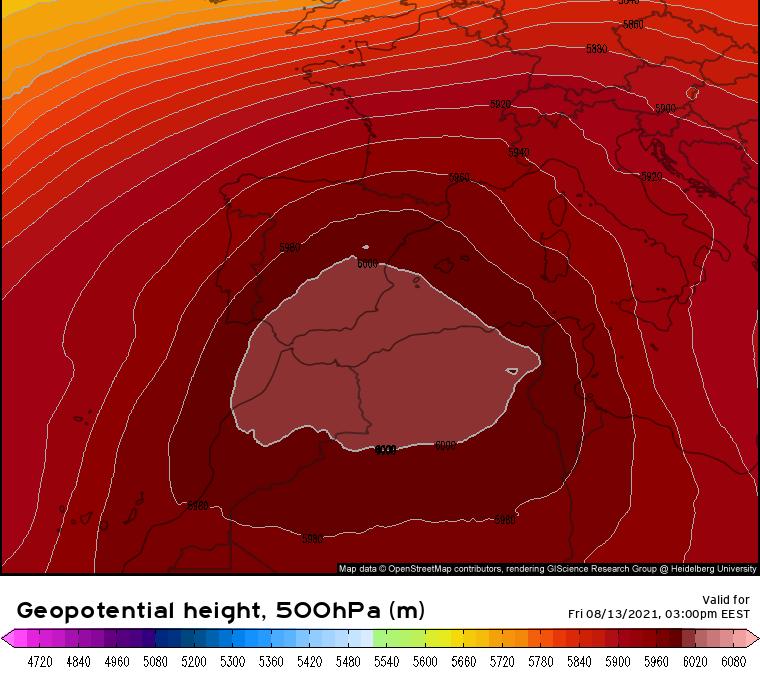 Verano 2021, ola de calor en España: una dorsal anticiclónica histórica