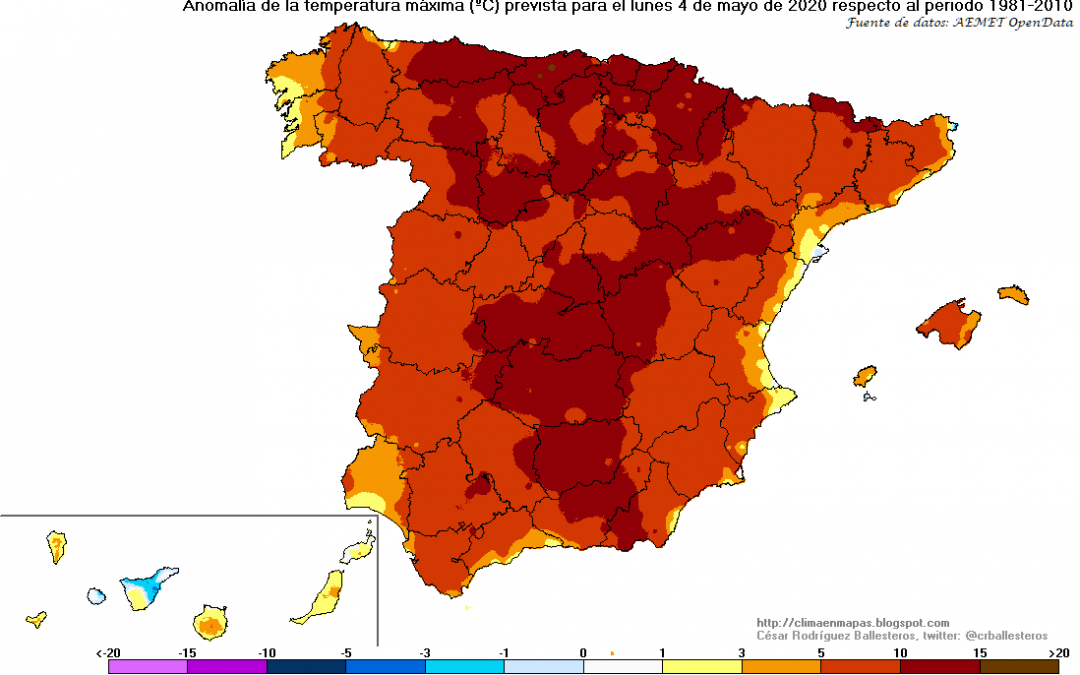 Arranque del mes de mayo 2020 con temperaturas de pleno verano