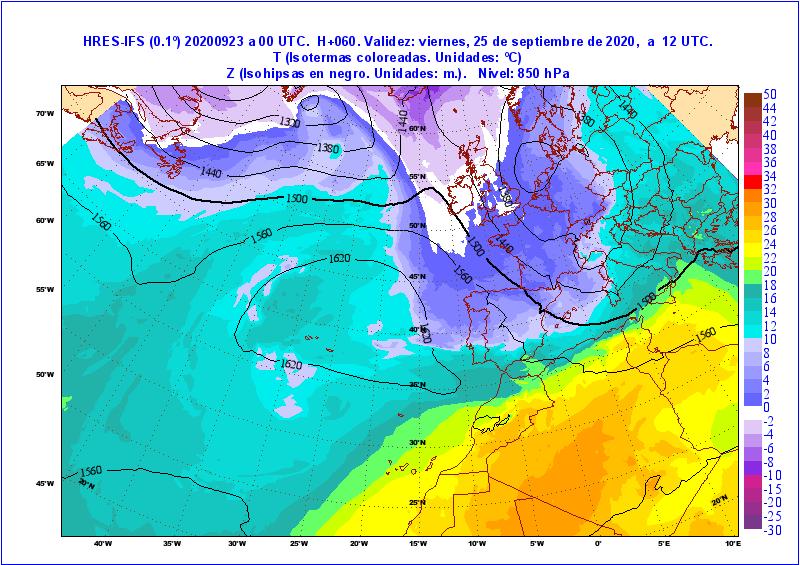 Importante expansión de masas de aire polar