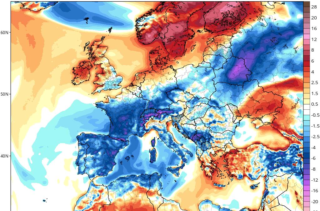 Análisis sinóptico del tiempo: advección de aire polar continental