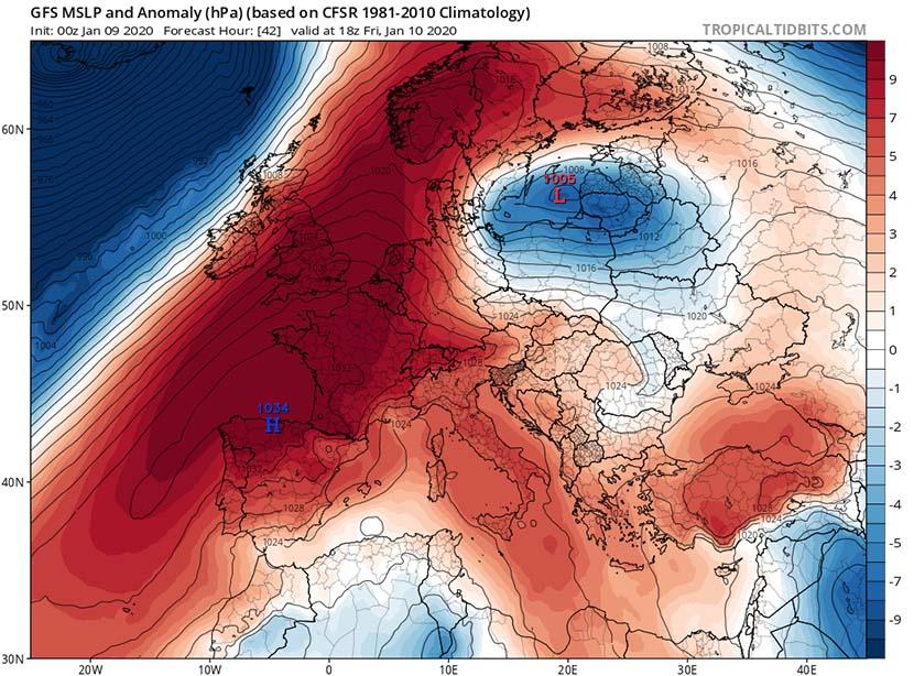Anticiclón invernal: origen de fuertes contrastes térmicos día-noche
