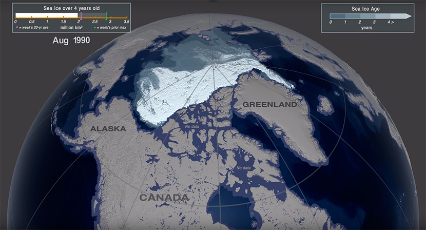 El hielo marino más viejo del Ártico está en peligro