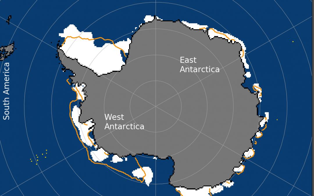 La banquisa antártica alcanza su mínimo anual, por debajo de la media