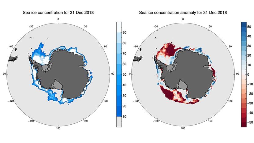 La banquisa antártica alcanzará su mínimo más bajo