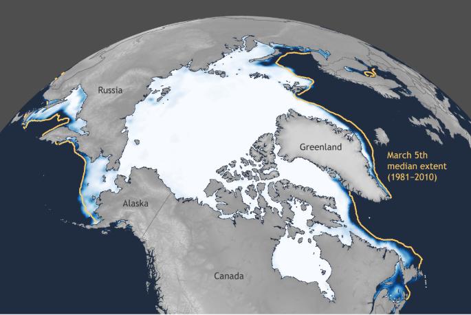La banquisa ártica alcanza un buen máximo anual en 2020