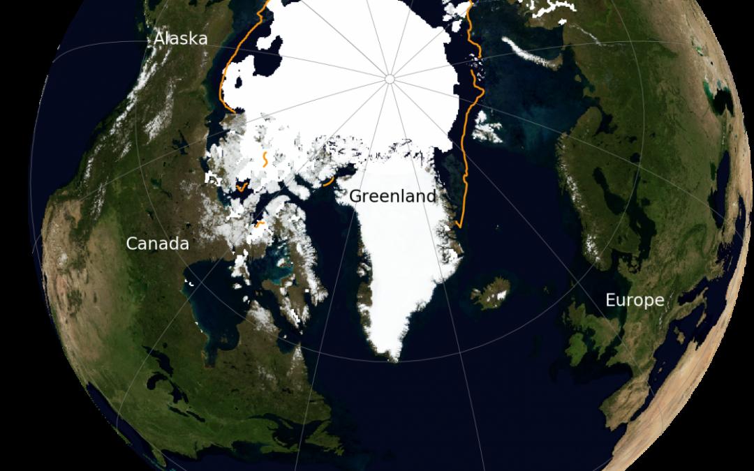 El mínimo anual de la banquisa ártica mejora en 2021