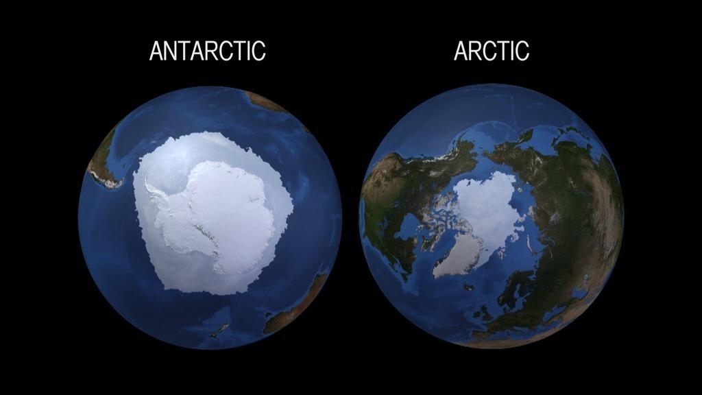 Las banquisas ártica y antártica responden de forma diferente
