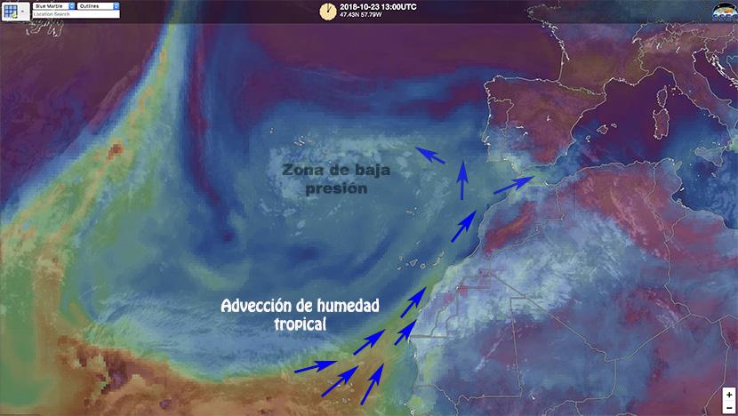 Temporal de lluvias en Canarias