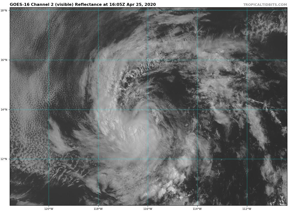 Prematuro comienzo de la temporada de huracanes 2020 en el Pacífico Noreste