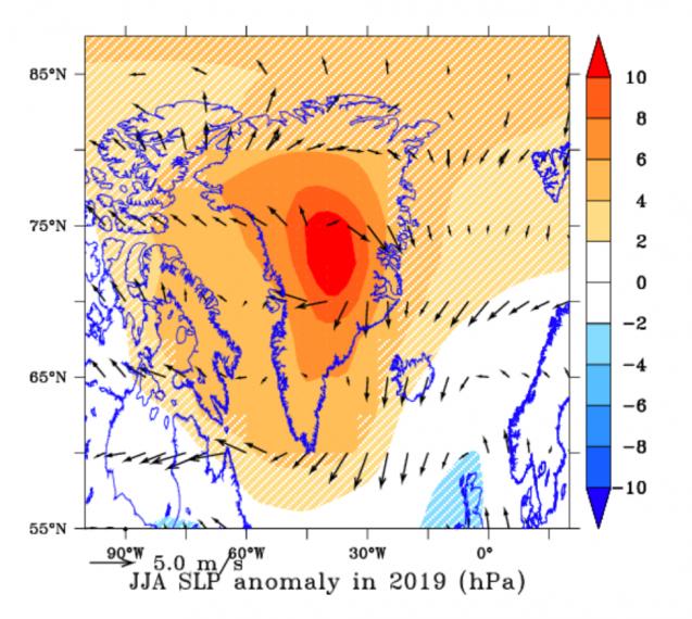 Cielos despejados y ausencia de nevadas en Groenlandia provocaron un deshielo récord