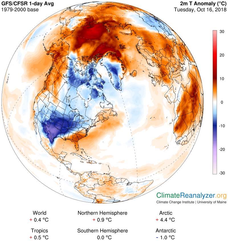 Calor y frío de récord en diversos países del Hemisferio Norte