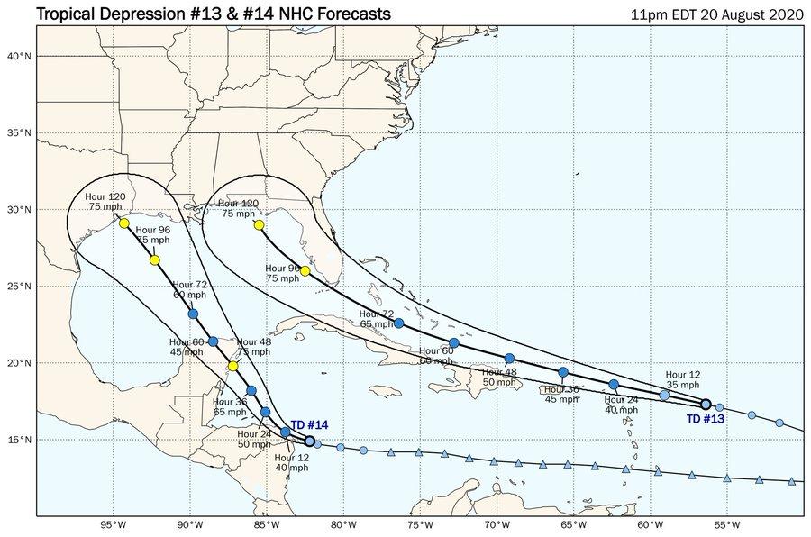 Insólito: dos huracanes tocando tierra al mismo tiempo