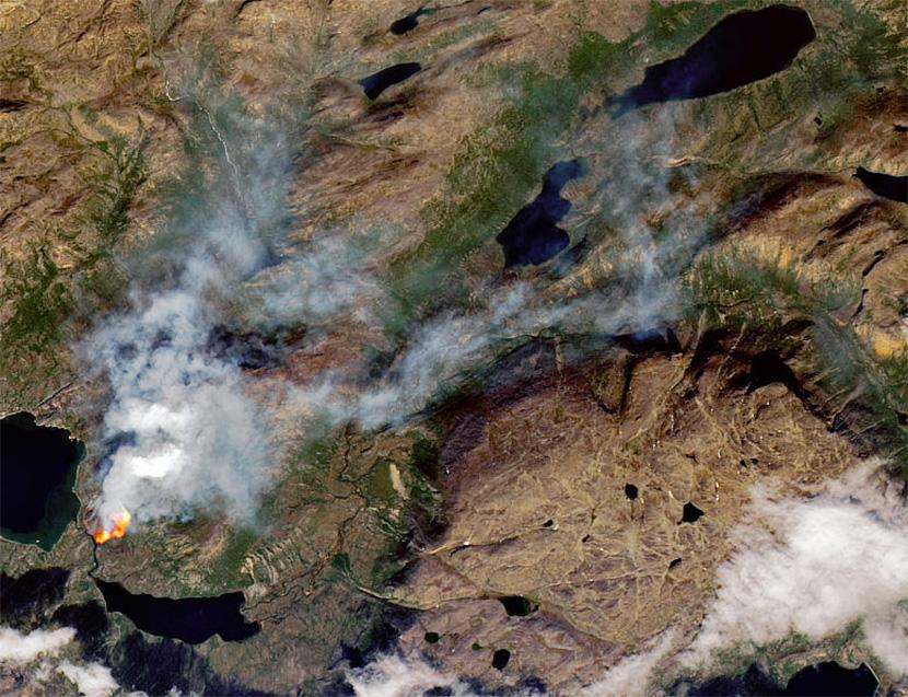Incendio forestal en Groenlandia