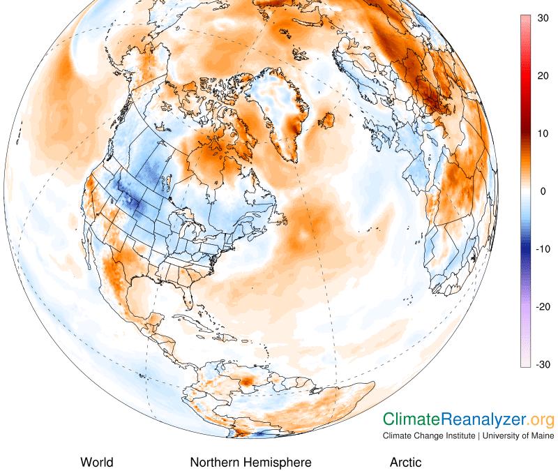 Activa una importante ola de calor en el Ártico
