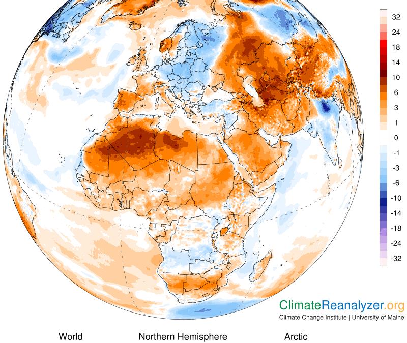 Últimos récords de calor a lo largo del mundo.