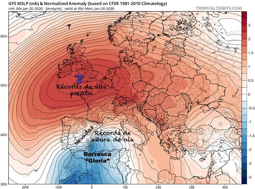 Borrasca Gloria: olas récord en el Mediterráneo