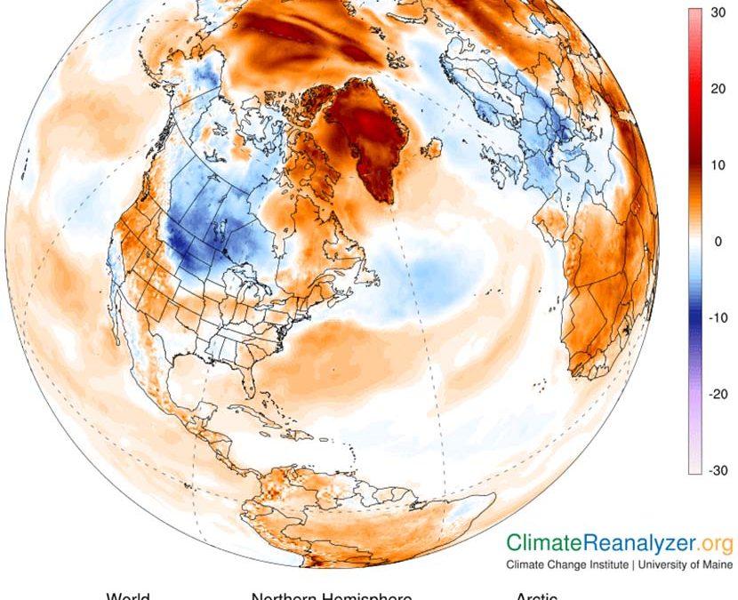 Ola de calor en Groenlandia y heladas récord en Francia