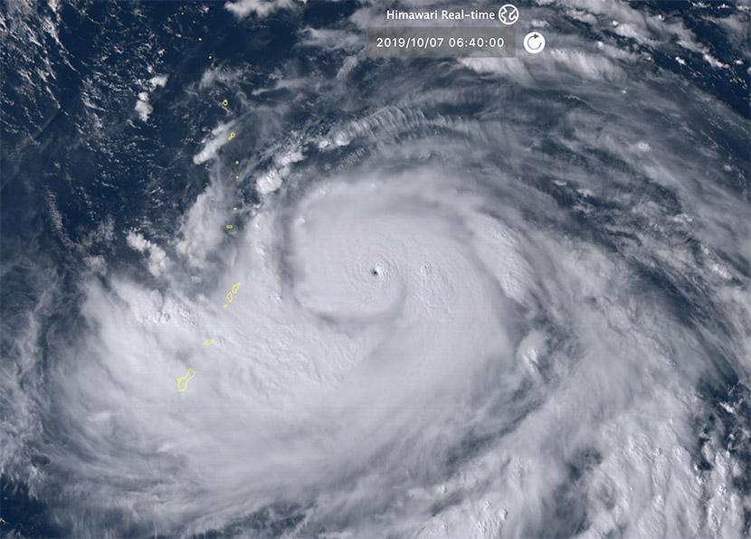 Super tifón Hagibis en el Pacífico Oeste