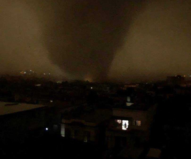 Tornado en La Habana, Cuba