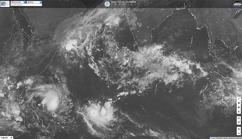 Ciclón Ambali en el índico sur: récord de intensificación en 24 horas.