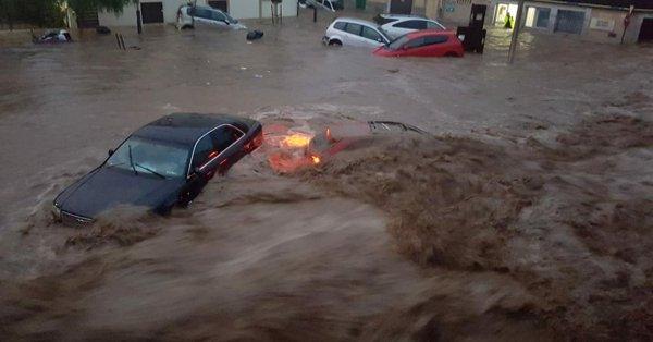 Lluvias torrenciales en Mallorca y Málaga