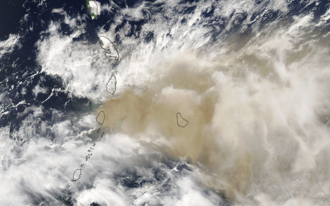 Erupción del volcán La Soufrière