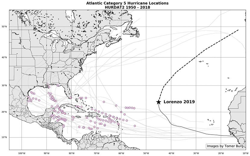 Lorenzo se convierte en un huracán de categoría 5 récord, tan cerca de Europa