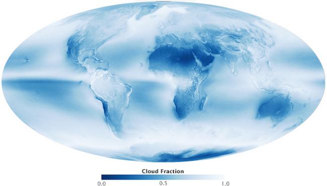 ¿Cuánta superficie de la Tierra está cubierta por nubes?