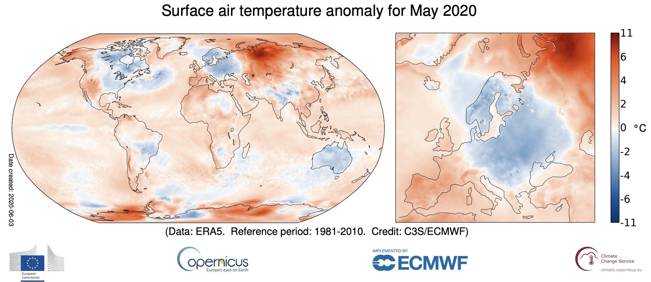 Un mayo de 2020 de récords de calor históricos