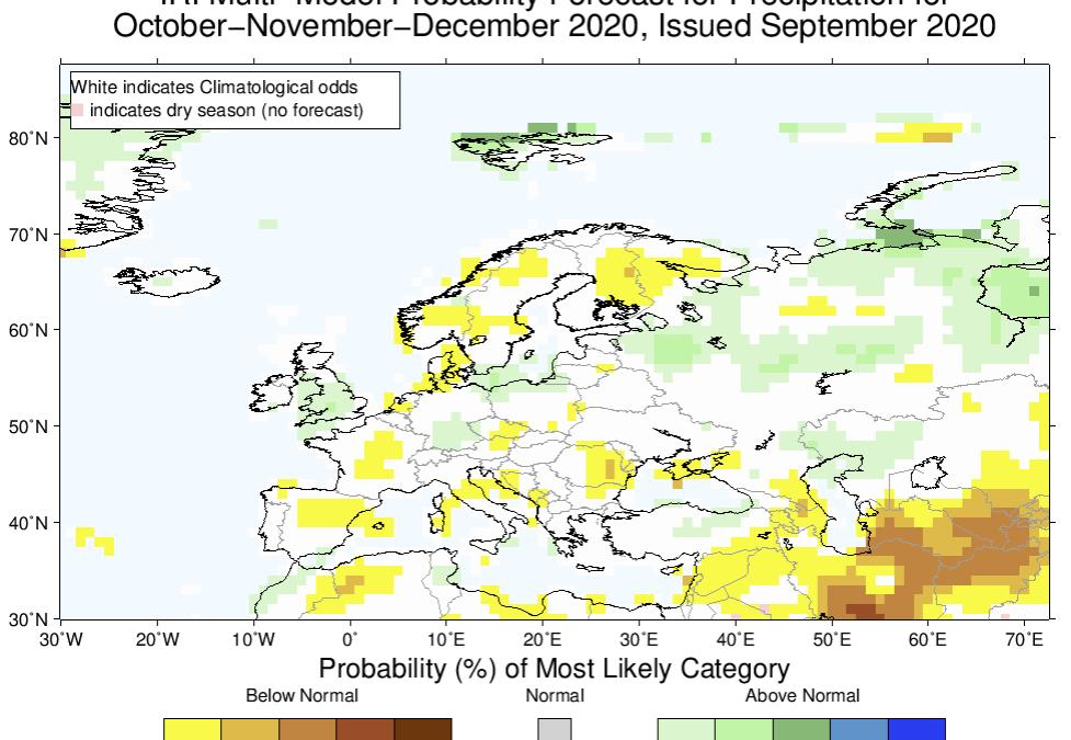 Previsiones estacionales: otoño invierno 2020-2021
