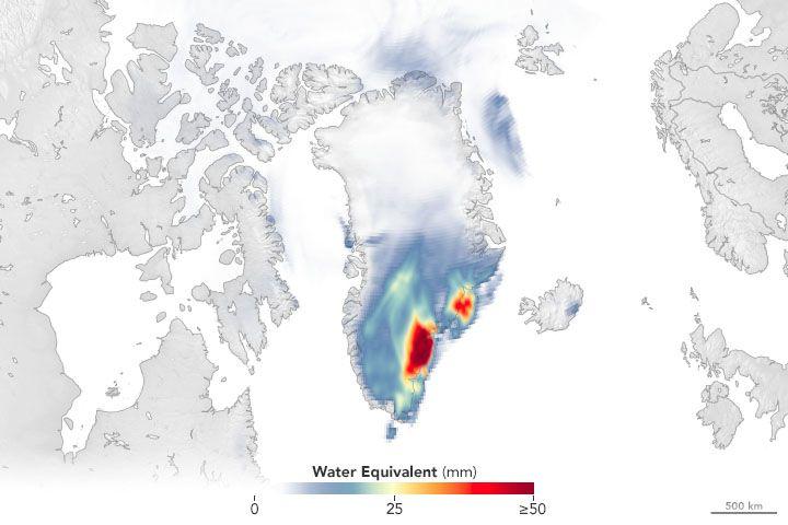 El huracán Larry dejó más de 10 gigatoneladas de nieve en Groenlandia