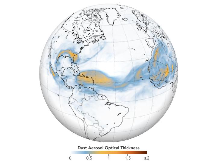 Año 2020: una advección de polvo sahariano para recordar