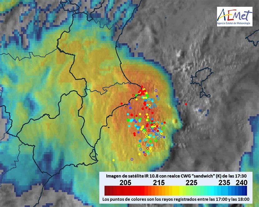 Un Sistema Convectivo de Mesoescala, la guinda de un temporal histórico