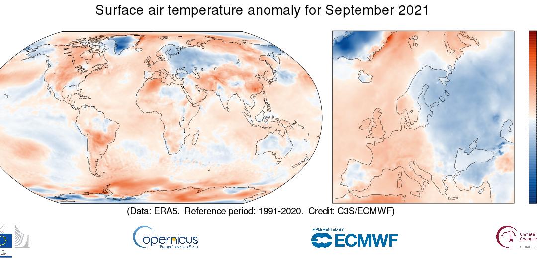 Septiembre de 2021, el cuarto más cálido