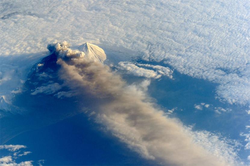 Las erupciones volcánicas y el calentamiento global
